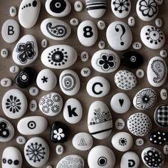 fun with stones. These would make awesome magnets if the stones were relatively flat on one side.