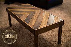 Handmade Chevron Pallet Coffee Table by WiththeGrainAshland