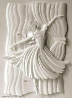 Pretty paper ballerina art sculpture—by Carlos N. Molina❣  CoolFunClub