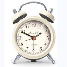 Jones Clocks Mini Bell Alarm Clock in cream from ASDA