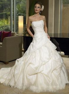 Good morning, dear friend!   How do you think of this graceful wedding gown? A-Line/Princess Straight Lace Satin Court Train with Draped Wedding Dresses   Like it? Please share it! Also, you can view our website for more descriptions and other beautiful designs:   http://dolce2dolce.com.sg/a-lineprincess-straight-lace-satin-court-train-with-draped-wedding-dresses   Thank you! Dolce2Dolce Wedding