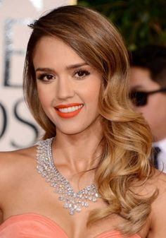 Jessica Alba - ombre Hollywood wave