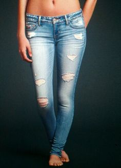 1000+ images about Jeans on Pinterest | Cute ripped jeans Ripped jeans and Bleached jeans