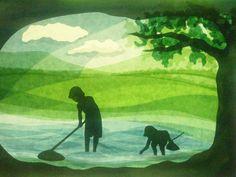 Fishing in the river von Art 4 Windows auf DaWanda.com