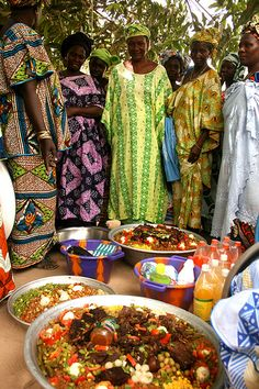 Wedding feast in Senegal. Incredible feast bringing a community together to celebrate.