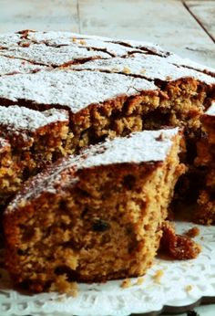 Greek Fanouropita, The traditional, spiced cake baked as an offering to Saint Fanourios. Greek Recipes, Wine Recipes, Food Network Recipes, The Kitchen Food Network, Greek Sweets, Spice Cake, No Bake Cake, Banana Bread, Deserts