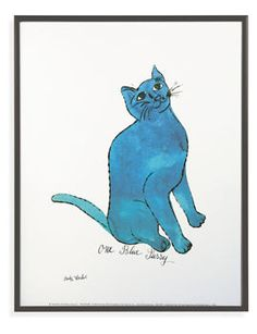 Andy Warhol Untitled 1954 (One Blue Pussy) framed poster, $49, Room & Board
