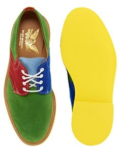 Mark McNairy Color Block Saddle Shoes