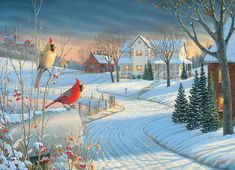 Country Cardinals Jigsaw Puzzle   PuzzleWarehouse.com