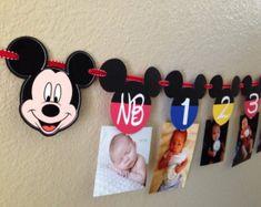 Mickey y Minnie de la bandera Mickey Mouse por CuddleBuggParties