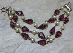 Czech W  West Germany Purple Violet Amethyst Pearl by WillowBloom, $48.50