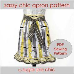 Sassy Chic Apron Pattern - via @Craftsy