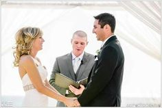 """I love their smiles. Just before, """"You may now kiss the bride."""""""