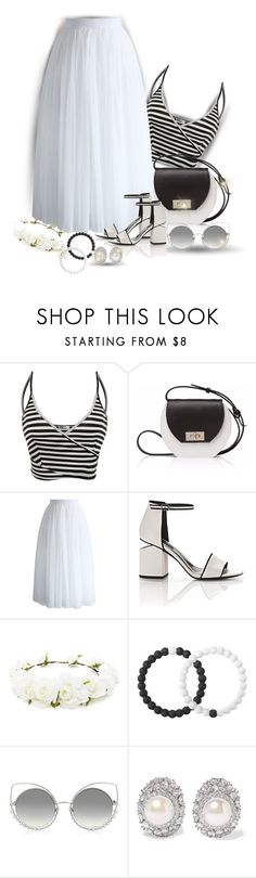 """""""White Skirts"""" by sarahguo ❤ liked on Polyvore featuring Joanna Maxham, Chicwish, Alexander Wang, Forever 21, Lokai, Marc Jacobs and Kenneth Jay Lane"""