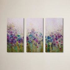 Dagmar 3 Piece Painting Print on Wrapped Canvas Set