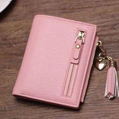 Brand New 2017 Fashion Women Wallet Tassel Short Wallets Large Capacity Zipper Hasp Ladies Bag Purse Money Female Credit Card