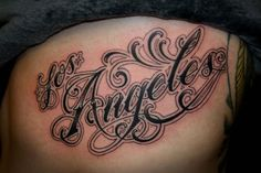 los angeles lettering tattoo - Google Search