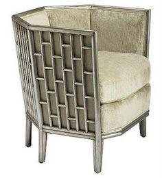 Barbara Barry Fretwork chair,,
