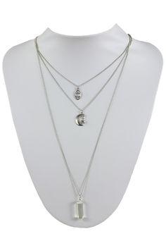 Lant Bershka Margot Silver | Kurtmann.ro Pendant Necklace, Silver, Jewelry, Jewlery, Jewerly, Schmuck, Jewels, Jewelery, Drop Necklace