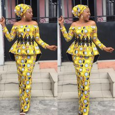 Fantastic Fitted Ankara Skirt and Blouse Styles You Need to Rock Owambe.Fantastic Fitted Ankara Skirt and Blouse Styles You Need to Rock Owambe African Fashion Ankara, Latest African Fashion Dresses, African Print Fashion, African Wear, African Attire, African Women, Latest Fashion, Women's Fashion, African Party Dresses