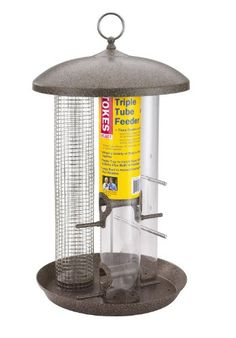 Special Offers - Stokes Select Triple Tube Bird Feeder with Eight Perches Brushed Copper 1.4 lb Capacity - In stock & Free Shipping. You can save more money! Check It (September 17 2016 at 05:34AM) >> http://birdhouseusa.net/stokes-select-triple-tube-bird-feeder-with-eight-perches-brushed-copper-1-4-lb-capacity/