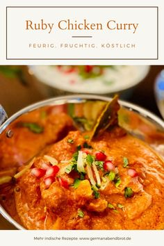 "Ruby Chicken Curry nach ""Dishoom"" Chicken Curry, Garam Masala, Dishoom, Yummy Recipes, Yummy Food, Winter Dishes, Foodblogger, Dinner Ideas, Chicken Recipes"