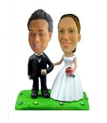 Handmade Bobblehead Custom Made Wedding Cake Topper Personalized/Gifts for Woman,Christmas Gifts,New Year Present