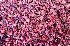 Flor de Jamaica (dried hibiscus flower) - makes a delicious hot tea or agua fresca and is a rich source of antioxidants