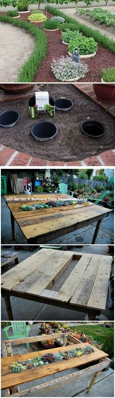 13 ideas for great and cheap garden furniture 1 # … - Diy Garden Projects Diy Patio, Backyard Patio, Backyard Landscaping, Patio Ideas, Landscaping Ideas, Cheap Patio Furniture, Diy Garden Furniture, Furniture Ideas, Patio Plants