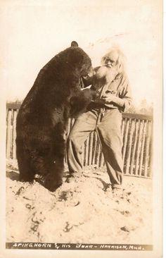 Spike HORN and his bear  ::  Harrison, MI