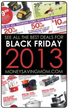 See All the Best Deals for Black Friday 2013 at MoneySavingMom.com