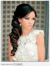 Wedding hair... love the side look. e