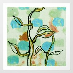 something grows Art Print by Melina Martín  - $17.00