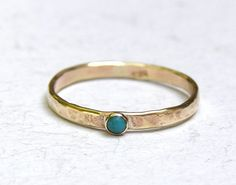 Sale , Stacking ring, Fine 14k jewelry ring, Engagement Ring -blue stone Turquoise Birthstone ring Gemstone