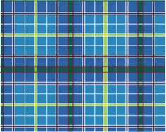Official Tartan of Texas: Texas Bluebonnet Tartan. Designated by HCR 242, 71st R.S. (1989) authored by Rep. Stan Schlueter and sponsored by Sen. John Leedom. [Image by Wikimedia Commons user Glasshouse]