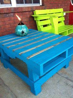 Inspirujące meble ogrodowe z palet