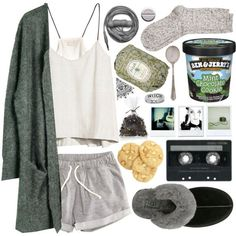 everybody hurts someway by vip-beauty on Polyvore featuring Julie Fagerholt Heartmade, HM, River Island, UGG Australia, Fresh, Urbanears, Crate and Barrel, Polaroid and Bobi