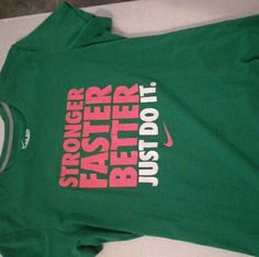 Dri-fit shirt Green pink white dr-fit never worn Nike Tops Tees - Short Sleeve