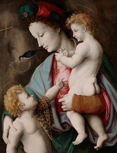 Francesco Bacchiacca, Madonna and Child with St John, 1525, Dallas Museum of Art  #TuscanyAgriturismoGiratola