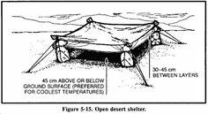 Desert Survival Shelter