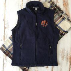 Monogrammed Fleece Vest