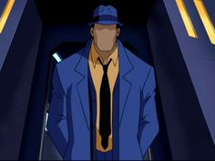 "The Question (Justice League: Unlimited) - been watching this, and I have to say he's one of my favorites. Who even says ""brobdingnagian,"" anyways?"