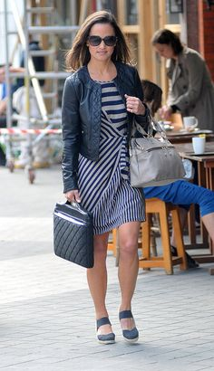 Pippa Middleton Stays Stylish While Solo in London: Pippa Middleton was taking care of business with a laptop bag in hand in London today.