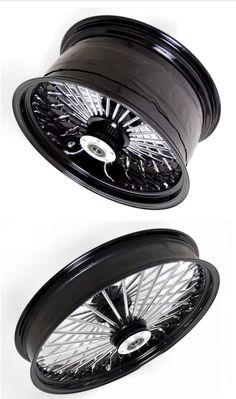Custom Harley fat spoke wheels