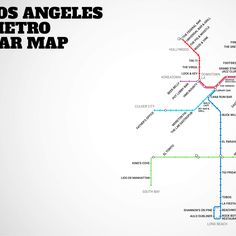LA'S Metro Bar Map! NO DRINKING AND DRIVING FOLKS!!