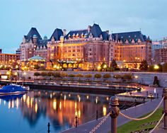 The Empress Hotel, Victoria, Canada. We used to take the Princess to sea and visit Victoria.