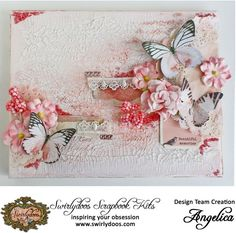 Angelica's Gallery: *Swirlydoos Kit Club* Butterfly Canvas