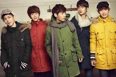 Winter is coming but here's a pic of SHINee all snuggly and warm. via~Forever-Shawols on deviantART