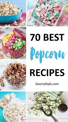 70 Mouth Watering Popcorn Recipes to Keep Those Kernels Popping easy nutella popcorncandy melt popcorncotton candy popcorn recipeunicorn popcorn with food coloring . Gourmet Popcorn, Popcorn Snacks, Candy Popcorn, Popcorn Bar, Sweet Popcorn Recipes, Popcorn Kernels, Homemade Flavored Popcorn, Jello Popcorn, Delicious Desserts