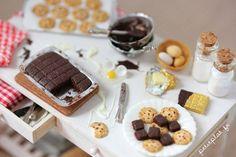 PetitPlat Handmade Miniature Food: Candy Shop Counter and Other Big Miniatures